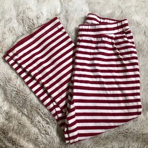 Cute Gymboree red/white stripe pants